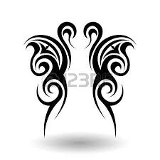rooster circle tribal tattoo art royalty free cliparts vectors