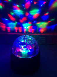led disco ball light battery powered led disco ball rotating spinning crystal party l