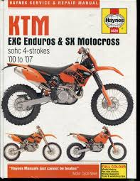 ktm exc enduros sx motocross 2000 2007 service and repair manual