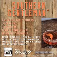 cocktail recipes poster the southern gentleman cocktail featuring willett