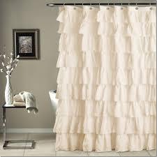 modern unique ruffle curtains beige ruffle shower curtain grey