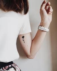 inner arm tattoos female smal tattoo tiny tattoo floral botanical flower peony