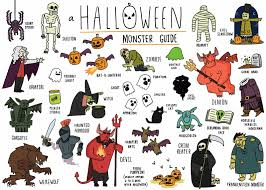 matty long illustration halloween monster guide