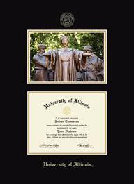 of illinois diploma frame of illinois cus diploma frame in galleria item