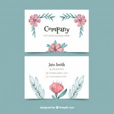 floral business card free vector floral business card 24446 my graphic hunt