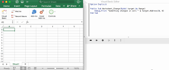 how to tell if a cell changed with vba spreadsheets made easy
