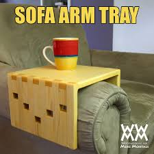 Sofa Arm Tray by Sofa Arm Tray With Easy Box Joints Woodworking For Mere Mortals