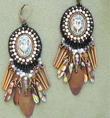 480 best bead embroidery earrings images on pinterest beaded