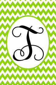 monogram letter t lime green chevron vine letter t monogram garden flag i americas