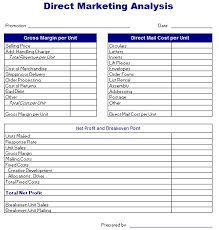 direct mail templates analysis templates free layout format