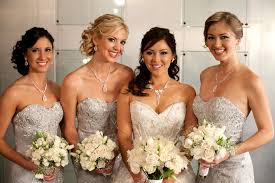 sequin bridesmaid dresses bridesmaids style sequins and lace the magazine