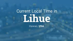 Us Timezone Map Current Local Time In Lihue Hawaii Usa