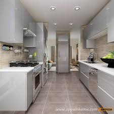 Modern Kitchen Cabinet Pictures Op16 A01 Modern Light Grey High Gloss Acrylic Kitchen Cabinet