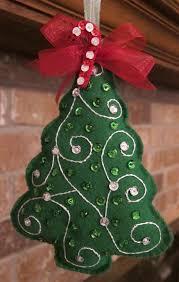 handmade felt christmas tree ornament 8 00 via etsy