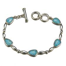larimar bracelet in sterling silver medical id bracelets