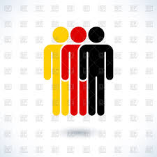Germany Flag Colors Men Pictogram In Colors Of German Flag Royalty Free Vector Clip