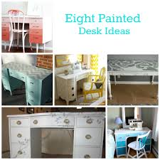 Desk Refinishing Ideas Painting Desk Ideas Defendbigbird Com
