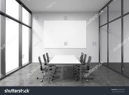 light spacious meeting room office building stock illustration