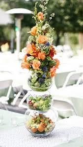 flowers fruit reception flowers fruit and flower tower wedding buffet arrangement