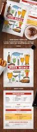beer menu menu templates menu printing and menu