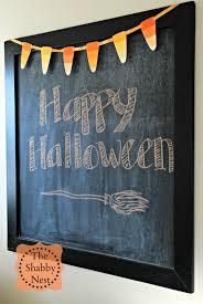 Happy Halloween Garland by The Shabby Nest Last Minute Halloween Craft Paint Chip U0026 Washi