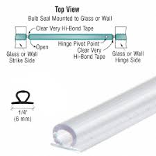 bulb shower door seal with pre applied tape ps glass fittings