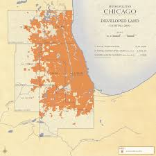 Map Metro Chicago by Metropolitan Chicago Land Use General