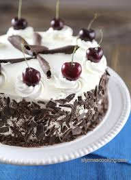 black forest cake recipe chocolate cherry cake alyona u0027s cooking