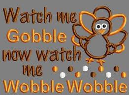 3 get 1 free me gobble now me wobble wobble applique