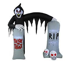 amazon com 8 foot lighted halloween inflatable ghosts skeleton