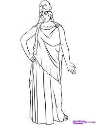 how to draw athena step by step greek mythology mythical beasts