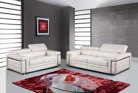 global furniture bonded leather sofa u7940 sofa in white bonded leather by global w options