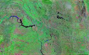 Lake Sakakawea Map North Dakota Satellite Images Landsat Color Image