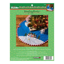 shop plaid bucilla seasonal felt tree skirt kits