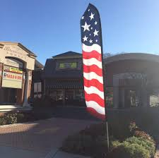 Outside Flag Flag Flap Pits Township Against Brick Restaurant Brick Nj