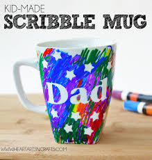 Gift Mugs With Candy Easy Father U0027s Day Sharpie Mug Kids Craft