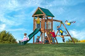 Wood Backyard Playsets by Backyard Playsets In Kids Modern With Kids Sandbox Next To Wood