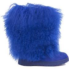 bearpaw womens boots size 9 bearpaw boetis ii mid calf fur boots cobalt blue polyvore