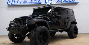 tuning jeep wrangler for sale pitch black jeep wrangler rubicon rock
