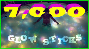 halloween glow sticks swimming in a family sized pool of glow sticks youtube