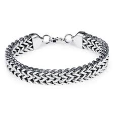 bracelet man silver stainless steel images 12mm wide 316l stainless steel bracelet men silver color round jpg