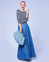 denim maxi skirt tiered denim maxi skirt 04 2017 102b sewing patterns burdastyle