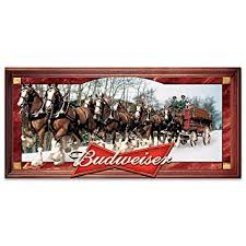 amazon com budweiser clydesdales stained glass panorama wall