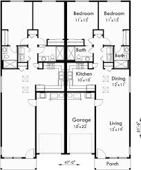 67 best duplex plans images on pinterest duplex house plans