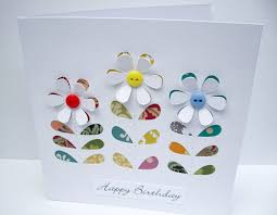 birthday card flower card mother u0027s day buttons