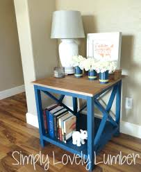 Build Your Own End Table Plans by Ana White Refined X End Table Featuring Simply Lovely Lumber