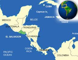 Flag El Salvador El Salvador Map On A World With Flag And Pointer Vector New