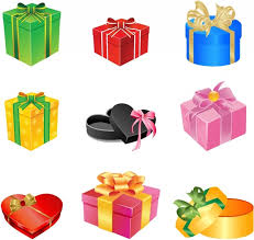boxes with bows multicolored gift boxes with bows and ribbons free vector in adobe