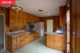 painting knotty pine kitchen cabinets white mid century modern whole house renovation photos apartment