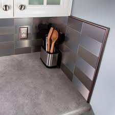 aspect 24 in champagne steel peel and stick decorative wall tile
